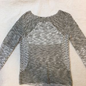 Lucky Brand gray and white sweater. New w/o tags!